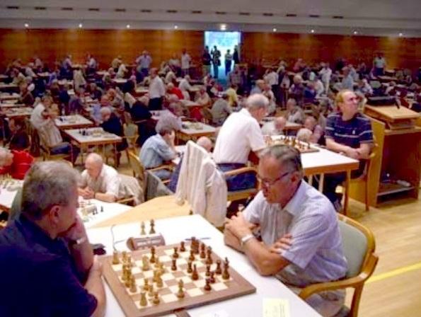 Sala de juego del XVII Campeonato Mundial Senior, Gmunden-2007