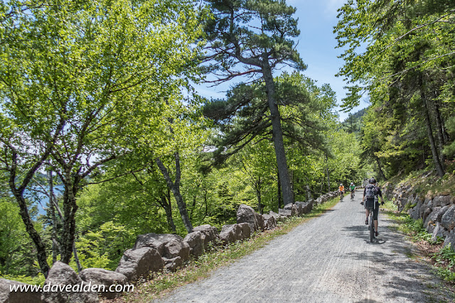 Riding the carriage roads in Acadia National Park, Mount Desert Island, Maine
