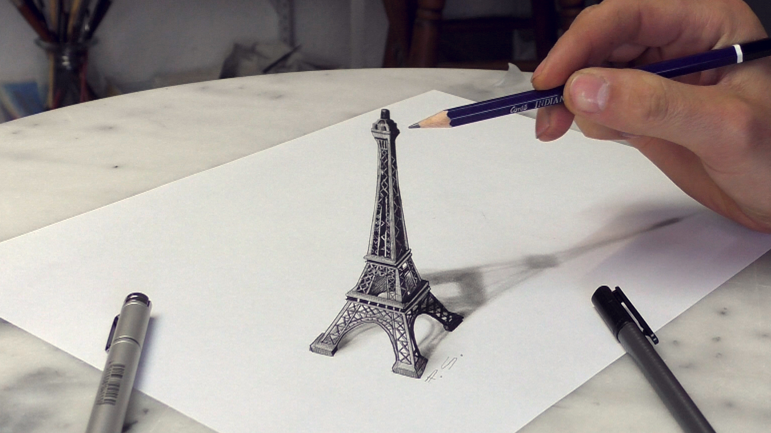 Design Stack: 3D Optical Illusions Drawings and Paintings