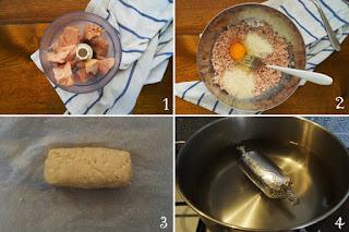 preparazione Ricetta salame di tonno con crema di fagioli cannellini per bambini