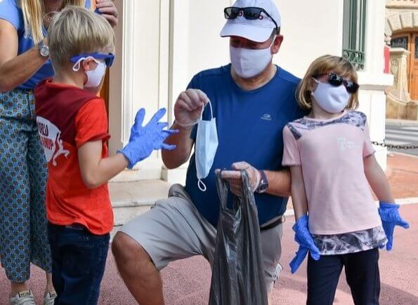 Hereditary Prince Jacques and Princess Gabriella attended the World Cleanup Day in Monaco