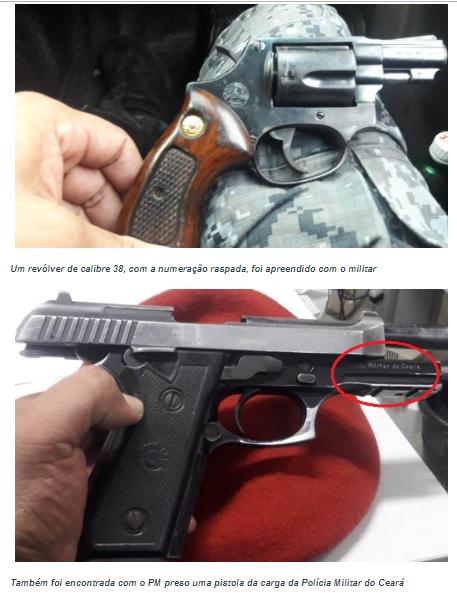 Sargento da PM é preso em flagrante em Caucaia após denúncia da venda ilegal de armas