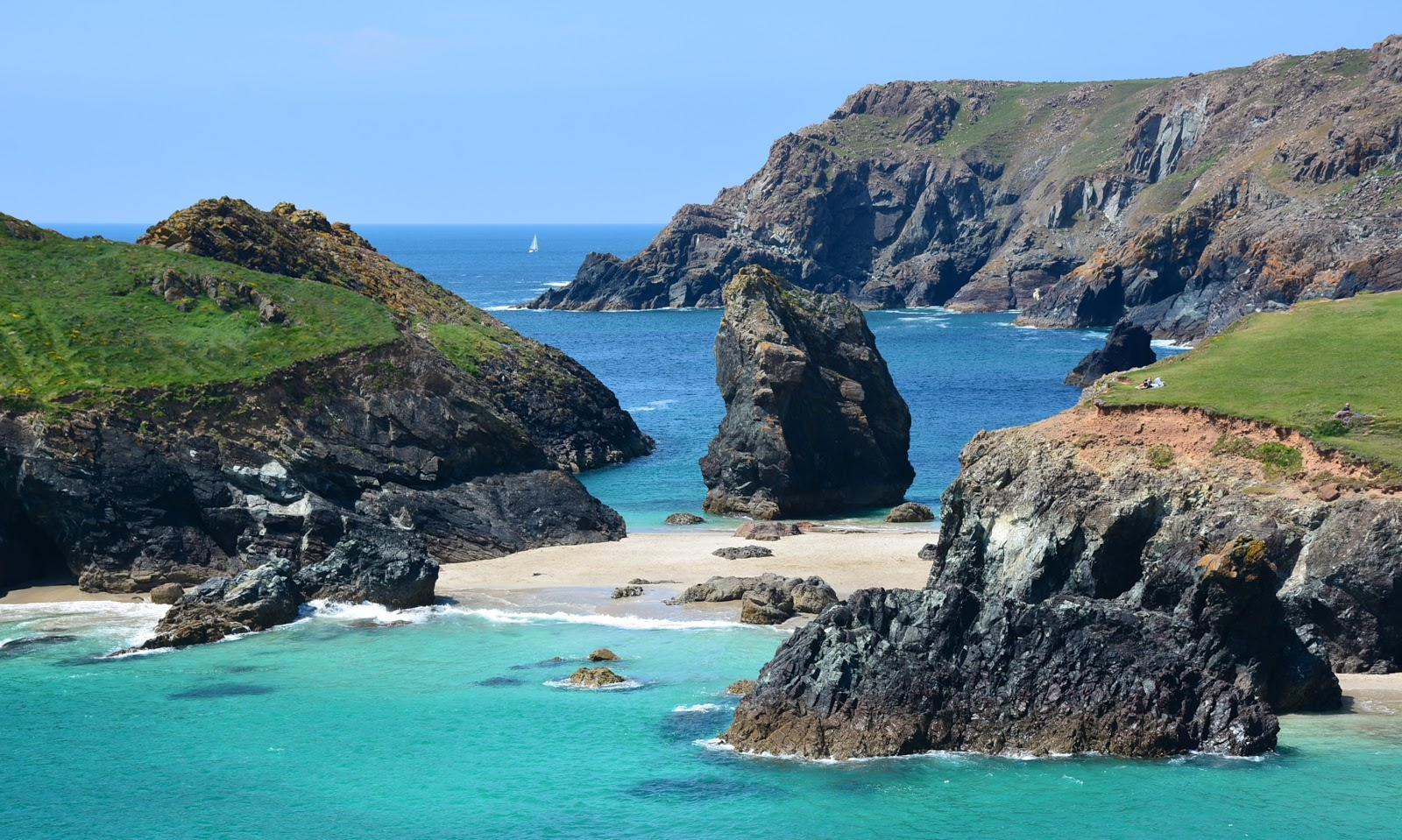 Kynance Cove in Cornwall, England