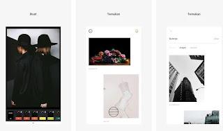gambar dan fitur aplikasi VSCO