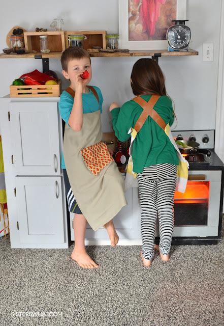 easy kid apron tutorial