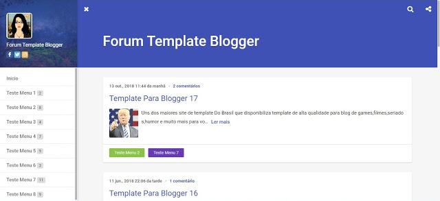 Forum Template Blogger