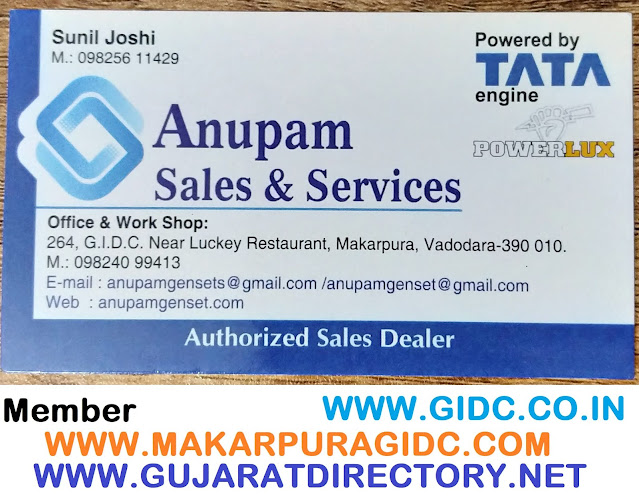 ANUPAM SALES & SERVICES - 9825611429 tata genset
