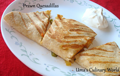 Tanduri Prawn or Shrimp Quesadillas