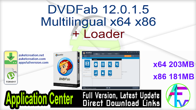 DVDFab 12.0.1.5 Multilingual x64 x86 + Loader