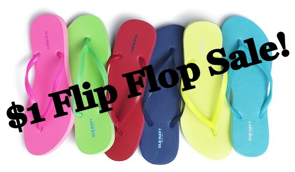 cc913bf98 Head over to your local Old Navy store for their legendary  1 Flip-Flop Sale  on Saturday