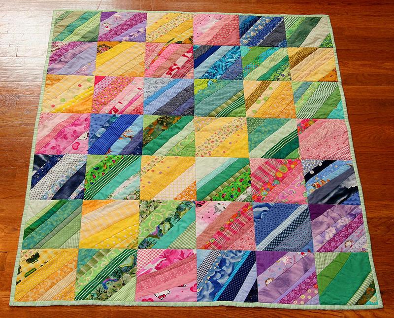 Foundation Pieced Strip Quilt / Tutorial