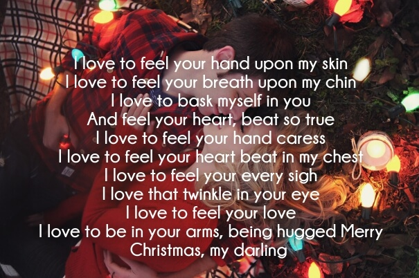 merry christmas poems for love