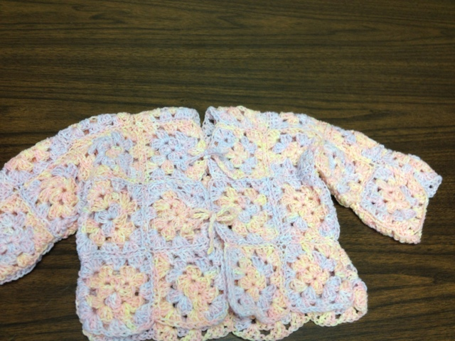 Julies Creative Lifestyle Crochet Baby Blue Sweater
