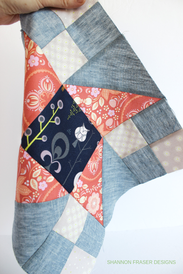 Modern Quilt Block | Fall Irish Vortex Quilt | Shannon Fraser Designs