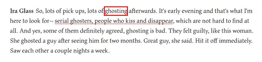 Arti Ghosting