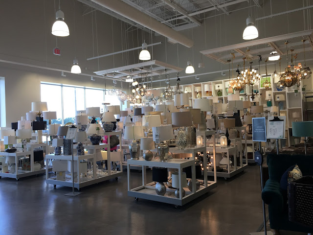 Lighting Department in Homesense store