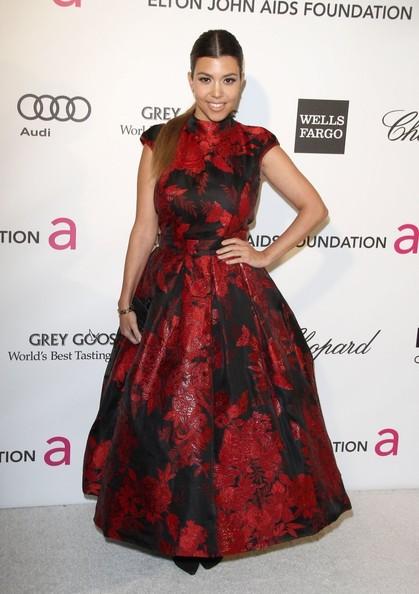 Kourtney Kardashian vestido