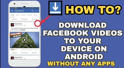 mobile me facebook se video kaise download kare