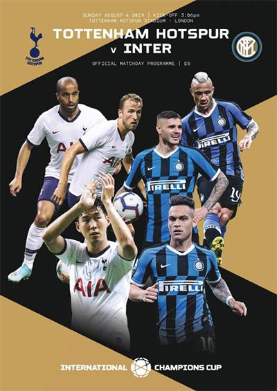 Tottenham Hotspur FC 2019/20 season programme cover