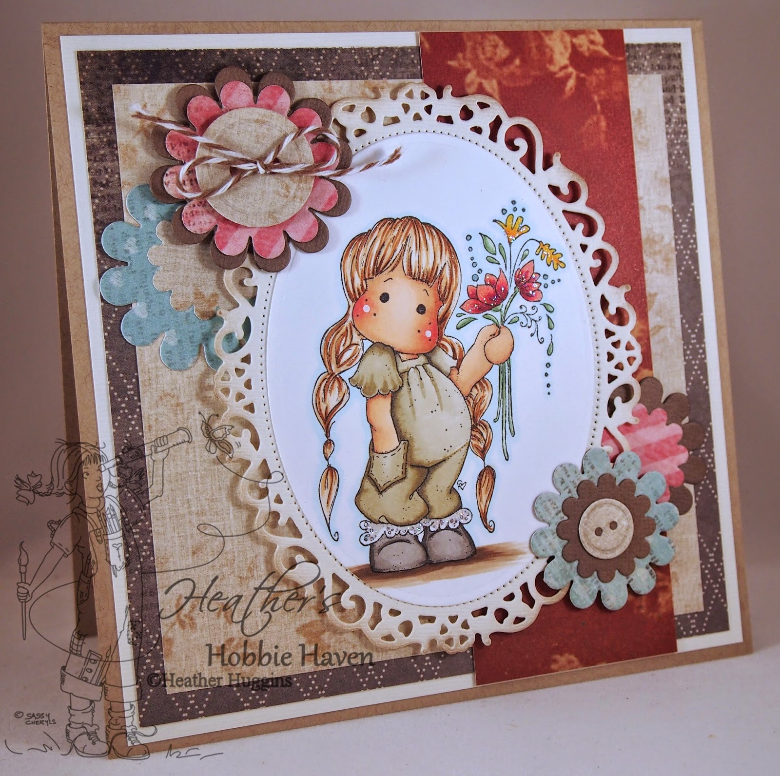 Heather's Hobbie Haven - Tilda with Little Pockets Card Kit