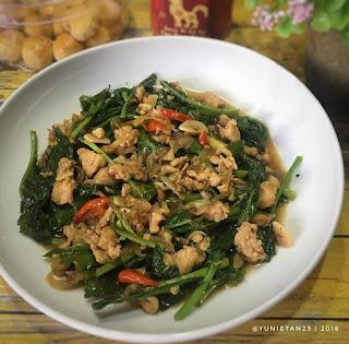 Resep Cah Kailan Ayam Pedas By @yunietan23
