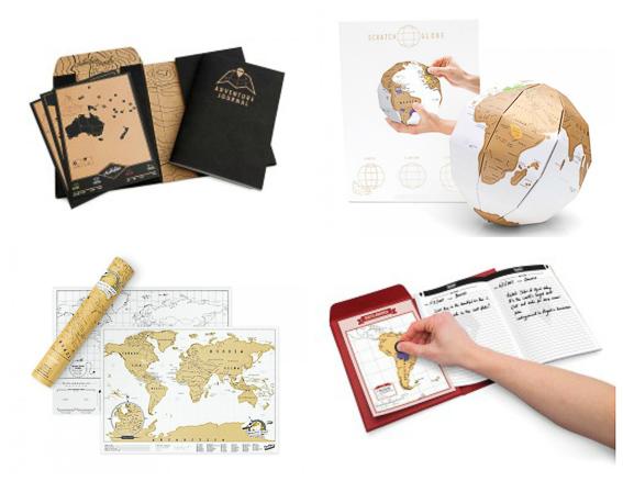 Mapas para rascar. Scratchmap. Regalos para viajeros