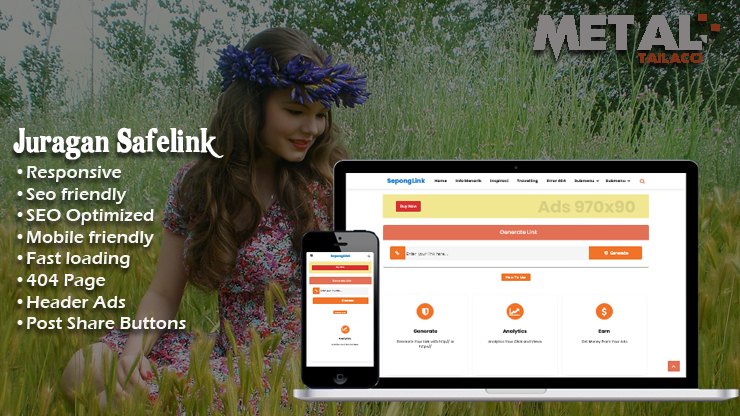 Juragan Safelink Responsive Blogger Template