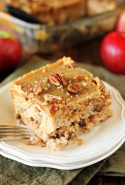 Piece of Old-Fashioned Apple Cake Image