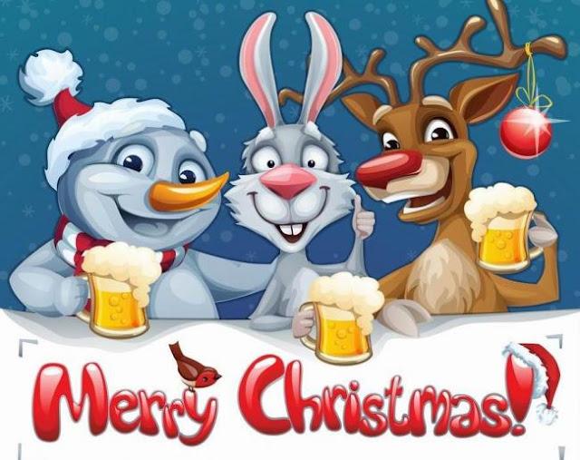Động vật phim hoạt hình hình nền Giáng sinh