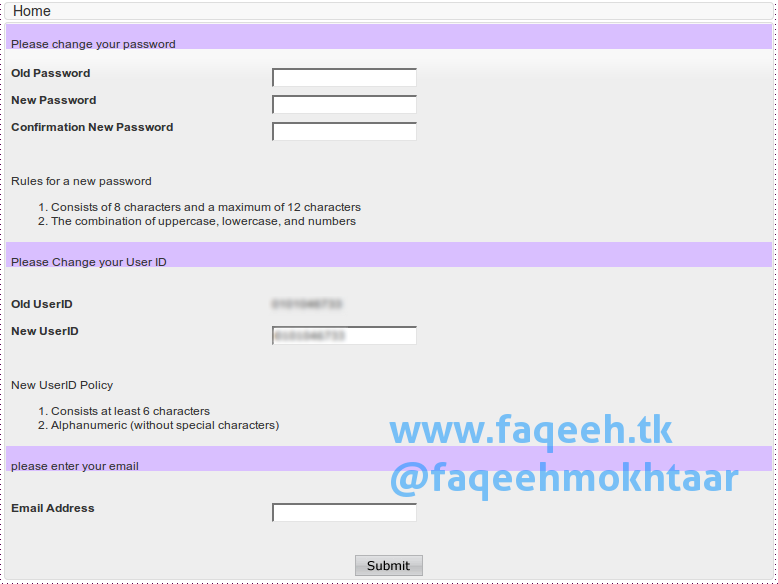 Perbarui Password, UserID dan Email Internet Banking Bank Muamalat