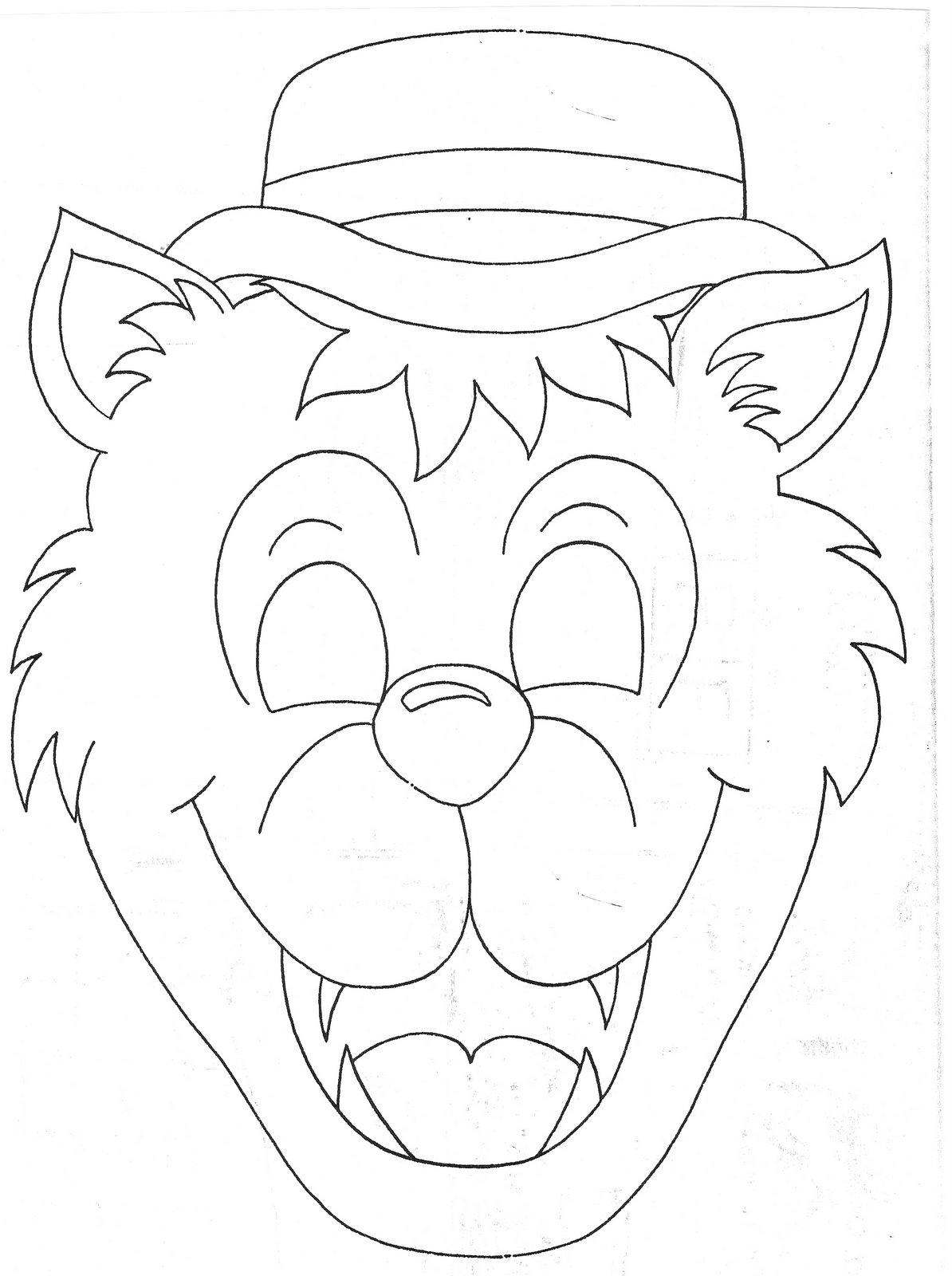 Mascara Do Lobo Mau Para Imprimir Imagui