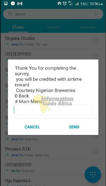 Get Free ₦500+ Airtime Answering Survey Questions On Your Phone
