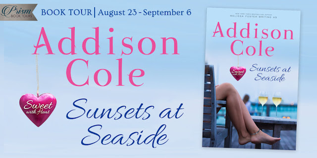 We're launching the Book Tour for SUNSETS AT SEASIDE by ADDISON COLE!