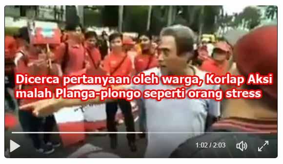 """Ada Aksi-aksian """"Kebesaran Beragama"""", Parahnya Ditanya Warga Konteksnya, Korlap Binggung Planga-Plongo"""