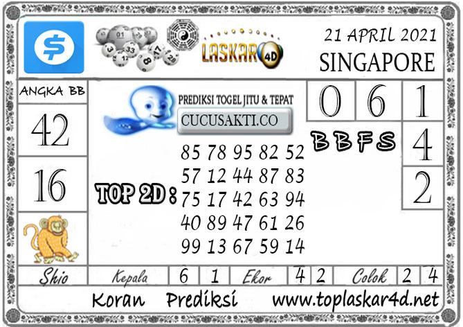Prediksi Togel SINGAPORE LASKAR4D 21 APRIL 2021