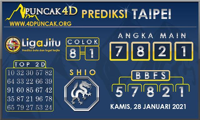PREDIKSI TOGEL TAIPEI PUNCAK4D 28 JANUARI 2021