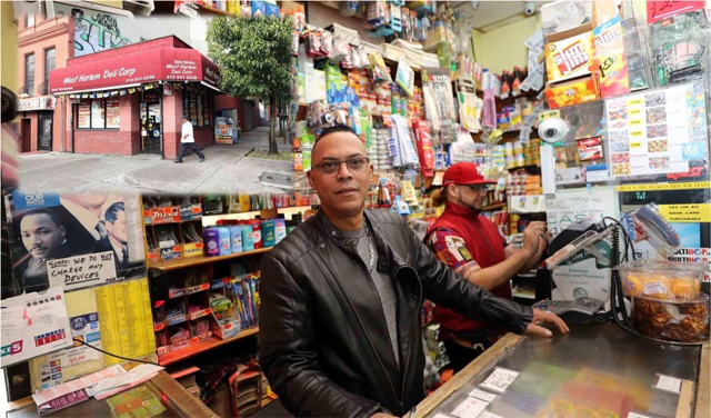 Carlos Díaz, manager de la bodega dominicana en Harlem