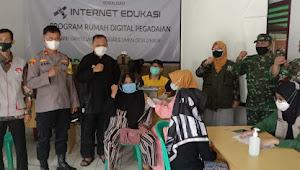 Kodim 0622 Kabupaten Sukabumi targetkan 173 peserta serbuan vaksinasi covid 19 di Desa Cihaur kecamatan Simpenan