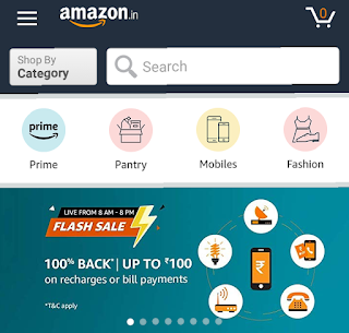 TODAY AMAZON 100% Cashback Offer