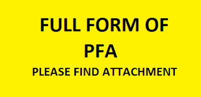 full form of pfa