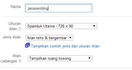 Cara Mudah Pasang Kode Iklan Google Adsense