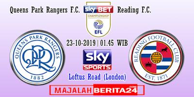 Prediksi QPR vs Reading — 23 Oktober 2019
