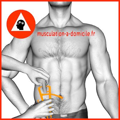 mesure ventre homme pince à plis cutanés adipomètre musculation fitness