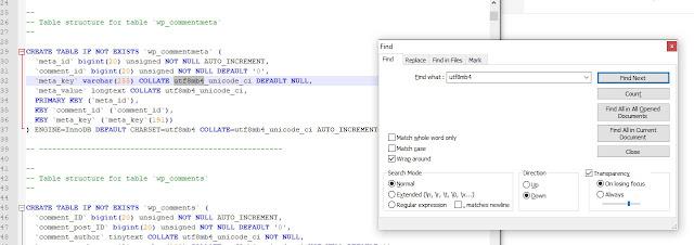 solusi mengatasi Unknown collation utf8mb4_unicode_ci pada saat memasukkan database ke server
