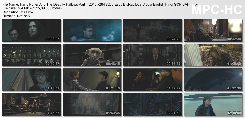 download harry potter and the deathly hallows part 1 in hindi 720p
