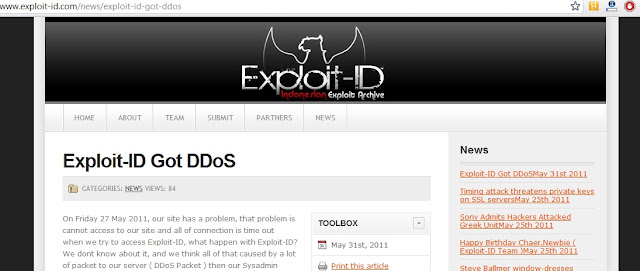 Exploit Database site - Exploit-ID was under DDOS attack !