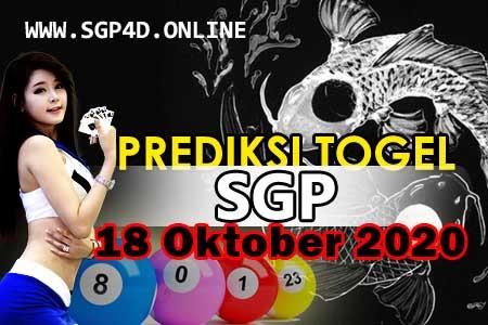 Prediksi Togel SGP 18 Oktober 2020