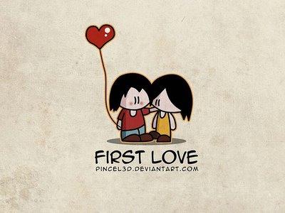 First Love from pincel3d.deviantart.com