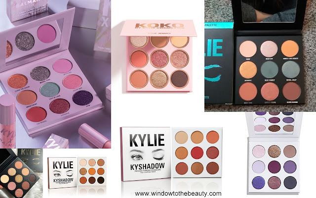 Kylie Jenner Cosmetics mini palettes