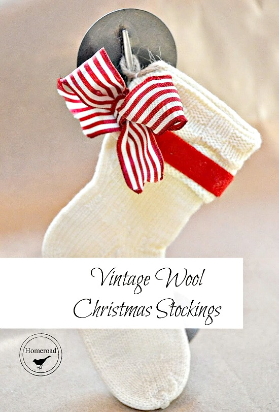 DIY Mini Christmas Stockings from Vintage Baby Socks